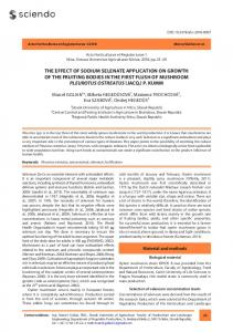 The effecT of sodium selenaTe applicaTion on growTh of ... - Sciendo