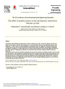 The Effect of Spatial Position on the Aerodynamic Interactions ... - Core