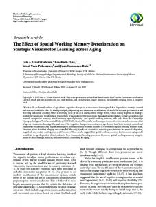 The Effect of Spatial Working Memory Deterioration on Strategic ...
