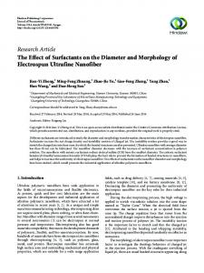 The Effect of Surfactants on the Diameter and Morphology of ...