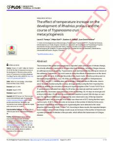 The effect of temperature increase on the development of ... - PLOS