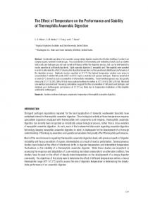 The Effect of Temperature on the Performance and ... - CiteSeerX