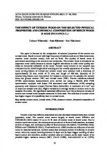 the effect of tension wood on the selected physical properties and