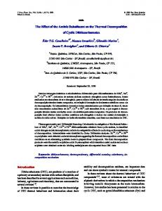 The Effect of the Aminic Substituent on the Thermal