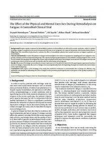 The Effect of the Physical and Mental Exercises During Hemodialysis ...
