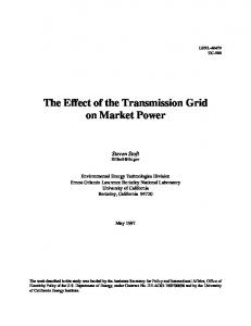The Effect of the Transmission Grid on Market Power - Energy ...