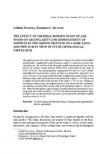 the effect of thermal modification of ash wood on granularity and
