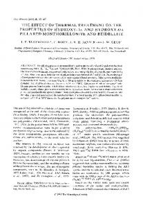 the effect of thermal treatment on the properties of hydroxy-al and ...