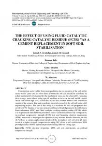 THE EFFECT OF USING FLUID CATALYTIC CRACKING CATALYST