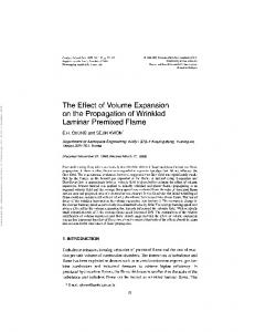 The Effect of Volume Expansion on the Propagation of