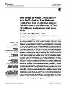 The Effect of Water Limitation on Volatile Emission, Tree ... - Frontiers