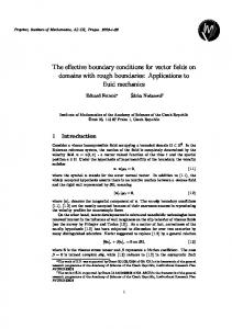 The effective boundary conditions for vector fields ... - Semantic Scholar