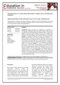 The Effectiveness of a DEAL-Based Intervention to Reduce Stress and ...
