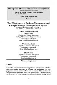 The Effectiveness of Business Management and Entrepreneurship