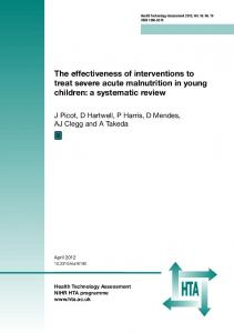 The effectiveness of interventions to treat severe ...