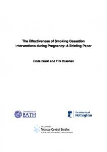 The effectiveness of smoking cessation interventions during ... - NICE