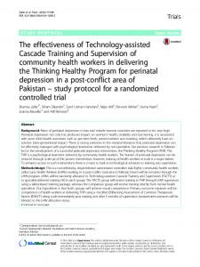 The effectiveness of Technology-assisted Cascade Training ... - Core