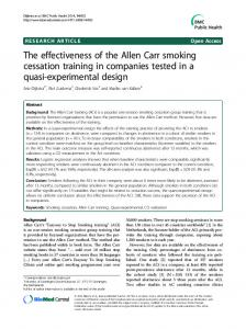 The effectiveness of the Allen Carr smoking cessation training in ...