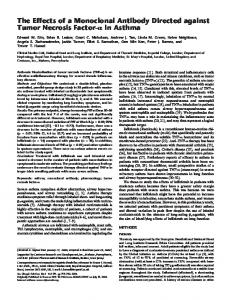 The Effects of a Monoclonal Antibody Directed against ... - ATS Journals