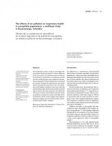 The effects of air pollution on respiratory health in ... - SciELO
