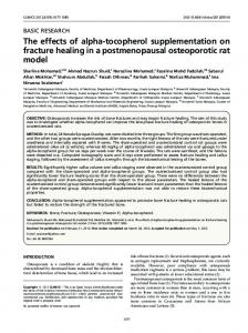 The effects of alpha-tocopherol supplementation on fracture healing in