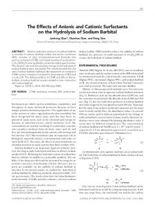 The effects of anionic and cationic surfactants on the ... - Springer Link