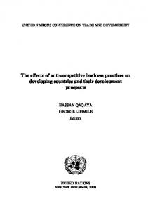 The effects of anti-competitive business practices on ... - Unctad