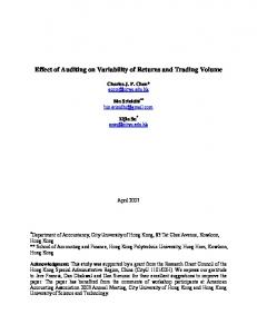 The Effects of Auditing: An Empirical Examination of ...