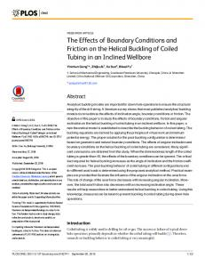 The Effects of Boundary Conditions and Friction on ... - Semantic Scholar
