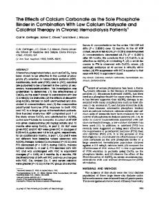 The Effects of Calcium Carbonate as the Sole Phosphate Binder in ...