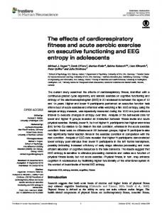 The effects of cardiorespiratory fitness and acute ... - Semantic Scholar
