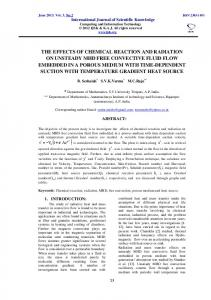 the effects of chemical reaction and radiation on unsteady mhd free ...