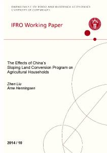 The Effects of China's Sloping Land Conversion Program on ...
