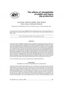 The effects of clinoptilolite on piglet and heavy pig production