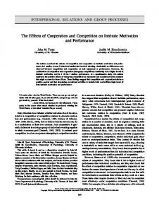 The Effects of Cooperation and Competition on ... - Semantic Scholar