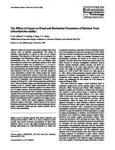 The Effects of Copper on Blood and Biochemical ... - Springer Link