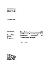 The effects of core workers rights on labour costs and foreign direct ...
