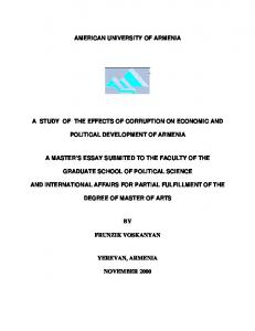 The Effects of Corruption on Economic and Political Development on ...