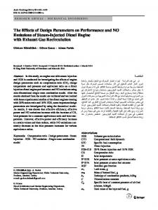 The Effects of Design Parameters on Performance and ... - Springer Link