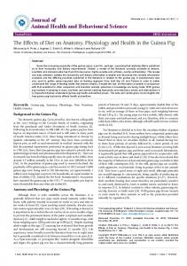 The Effects of Diet on Anatomy, Physiology and ... - OMICS International