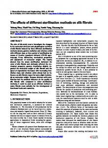 The effects of different sterilization methods on silk fibroin - Scientific ...