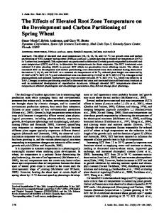The Effects of Elevated Root Zone Temperature on ...