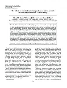 The effects of elevated water temperature on native juvenile ... - BioOne