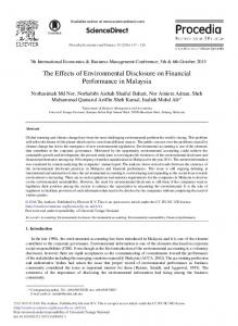 The Effects of Environmental Disclosure on ... - ScienceDirect.com