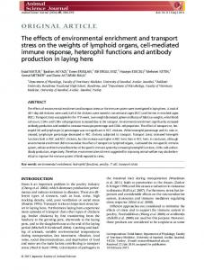 The effects of environmental enrichment and ... - Wiley Online Library