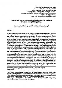 The Effects of Family, Community, and Public Policy on Depressive ...