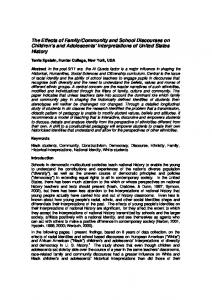 The Effects of Family/Community and School Discourses on Children's ...