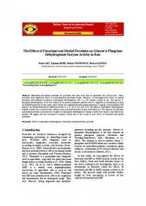 The Effects of Fenarimol and Methyl Parathion on Glucose ... - DergiPark