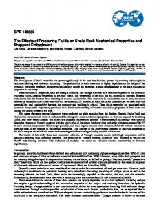 The Effects of Fracturing Fluids on Shale Rock Mechanical Properties ...