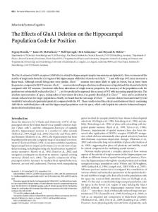 The Effects of GluA1 Deletion on the Hippocampal ... - Semantic Scholar